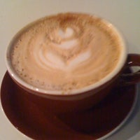 Photo taken at Transcend Coffee by Maria E. on 6/1/2011