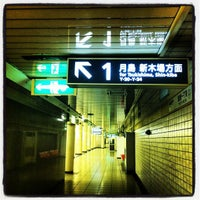 Photo taken at Ginza-itchome Station (Y19) by Danny K. on 6/23/2012