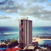 Photo taken at Hilton Hawaiian Village Waikiki Beach Resort by andrew_sf on 3/11/2012