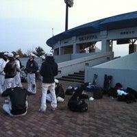 Photo taken at 今津スタジアム by Kana T. on 11/27/2011