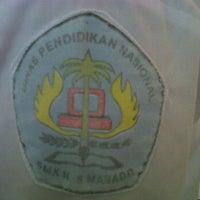 Photo taken at SMK Negeri 5 Manado by Novenita S. on 5/20/2012