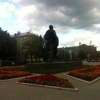 Photo taken at Памятник Л.Н. Толстому by Максим Н. on 8/31/2012