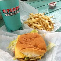 Photo taken at P. Terry's Burger Stand by Bryan B. on 8/13/2011
