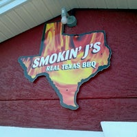 Photo taken at Smokin' J's Real Texas BBQ by Niel E. on 10/21/2011