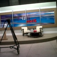 Photo taken at Estúdio da Rede TV by Waldir C. on 9/7/2012