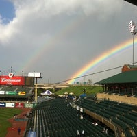 Photo taken at Louisville Slugger Field by Kristin W. on 4/30/2011