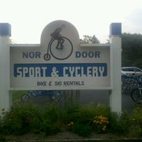 Photo taken at Nor Door Sport & Cyclery by Michael M. on 9/2/2011