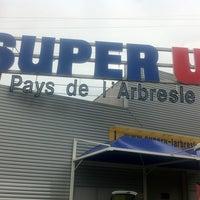 Photo taken at Super U L'Arbresle by Guigui N. on 12/23/2011