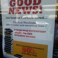 Photo taken at Book Warehouse by Robert S. on 5/24/2012