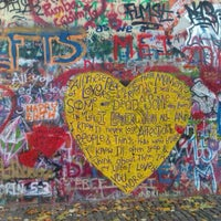 Photo taken at Lennon Wall by K M. on 11/7/2011