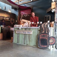 Photo taken at Mud River Coffee Roasting by Rachel on 8/18/2012