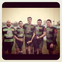 Photo taken at Cus Verona Rugby Club House by Francesca T. on 1/19/2011