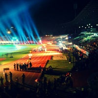 Photo taken at Stadion Manahan by Dimas S. on 12/16/2011