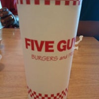Photo taken at Five Guys by Laura S. on 8/24/2011