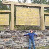 Photo taken at Continental Divide - Alberta/BC Border by Jessica M. on 6/13/2012