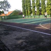 Photo taken at Smp 3 tennis court by Bayu G. on 2/26/2012