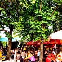 Photo taken at Zahrádky a restaurace Riegrovy sady – Park Café by Radek P. on 7/24/2012