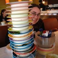 Photo taken at Blue C Sushi by Sarah K. on 3/27/2012