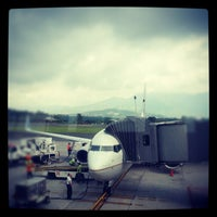 Photo taken at Gate 5 Aeropuerto Internacional Juan Santamaria by Ronald M. on 5/17/2012