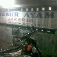 Photo taken at Bubur Ayam Jakarta by Ida J. on 4/5/2012
