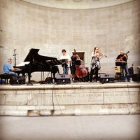 Photo taken at Naumburg Bandshell by Kim N. on 8/7/2012