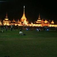 Photo taken at Sanam Luang by Diawdiaw k. on 4/12/2012
