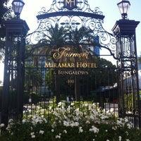 Foto tirada no(a) Fairmont Miramar Hotel & Bungalows por Patrick K. em 8/15/2012