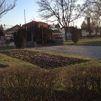 Photo taken at Béke tér by Kovács L. on 3/21/2012