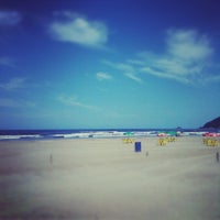 Photo taken at Praia do Sesc Bertioga by Fabio L. on 4/19/2012