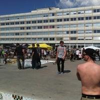 Photo taken at Skatepark Lingner Allee by Marc H. on 5/1/2012