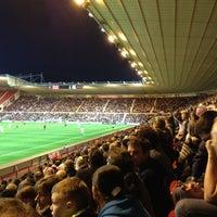 Photo taken at Riverside Stadium by Cat E. on 2/29/2012