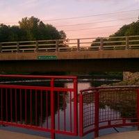 Photo taken at White River Monon Bridge by CS_just_CS on 7/22/2012