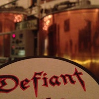 Photo taken at Defiant Brewing Co. by Nick A. on 8/25/2012