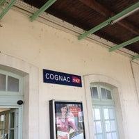 Photo taken at Gare SNCF de Cognac by Deborah G. on 7/22/2012