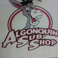 Photo taken at Algonquin Sub Shop by Richie on 2/19/2012