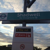 Photo taken at Shadwell DLR Station by Steven O. on 7/15/2012