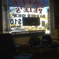 Photo taken at Sweet Pete's Barber Shop by George K. on 1/30/2012