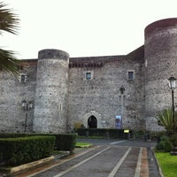 Photo taken at Castello Ursino by Amelia T. on 2/5/2012