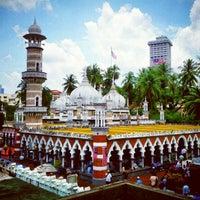 Photo taken at Masjid Jamek Kuala Lumpur by Ee K. on 9/7/2012
