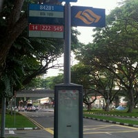 Photo taken at Bus stop 84281 @ Blk 180 Bedok North Road by Leon B. on 10/21/2011