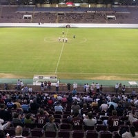 Photo taken at Estádio Doutor Adhemar Pereira de Barros (Arena da Fonte) by Willian O. on 8/18/2012