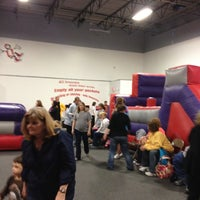 Photo taken at Bounceu Fishers by Gretchen S. on 4/14/2012