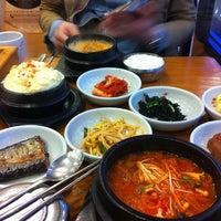 Photo taken at 삼정한식 by Jihyun K. on 4/13/2012