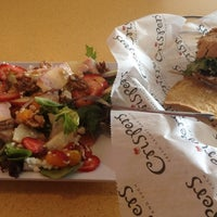 Photo taken at Crispers Fresh Salads, Soups and Sandwiches by Gina on 6/20/2012