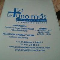 Photo taken at Clínica Veterinaria 'Uno Más' by Jesús P. on 11/11/2011