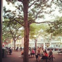 Photo taken at Davis Square by Tim O. on 8/22/2012