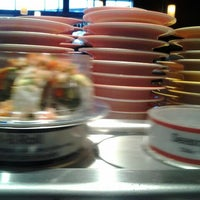 Photo taken at Blue C Sushi by Mark E. on 1/16/2012