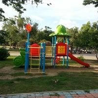 Photo taken at สนามกีฬาจังหวัดพระนครศรีอยุธยา by lollze S. on 8/27/2012