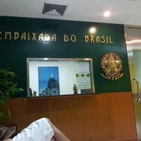 Photo taken at Embaixada do Brasil by Tom D. on 1/4/2012