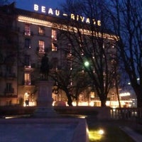 Photo taken at Hotel Beau-Rivage by C M. on 12/28/2011